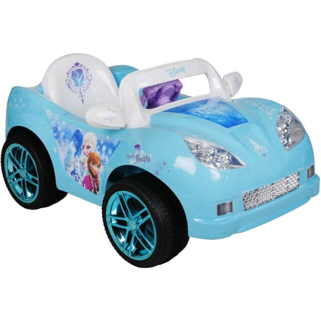 Disney Frozen Convertible Car 6v Battery Power Wheels Girls Electric ... f2ffbbe9f131