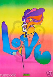 Pop-Art-Love-Poster-Print-Peter-Max-Reproduction-colorful-wild-colors