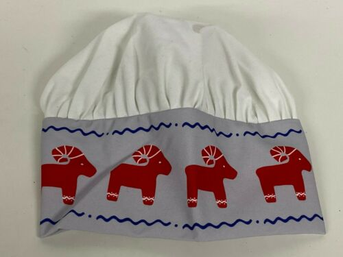 Ikea Kids Chef Hat Vinterfest Holiday Style Red White Blue NEW