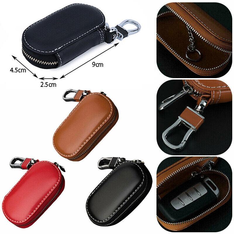 Auto Schlüsselanhänger Tasche Schutz Leder Keychain Münzhalter für Frauen Männer