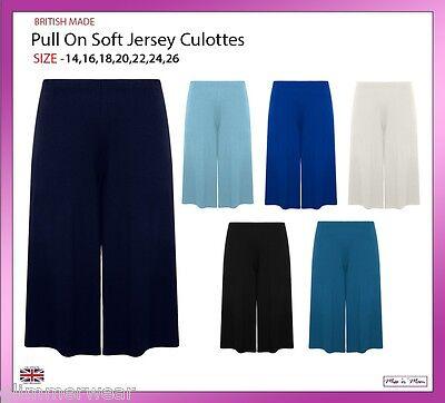 Le Donne Pull On Morbido Jersey Baggy Culotte Gamba Larga Standard & Più Taglie 12-26-mostra Il Titolo Originale