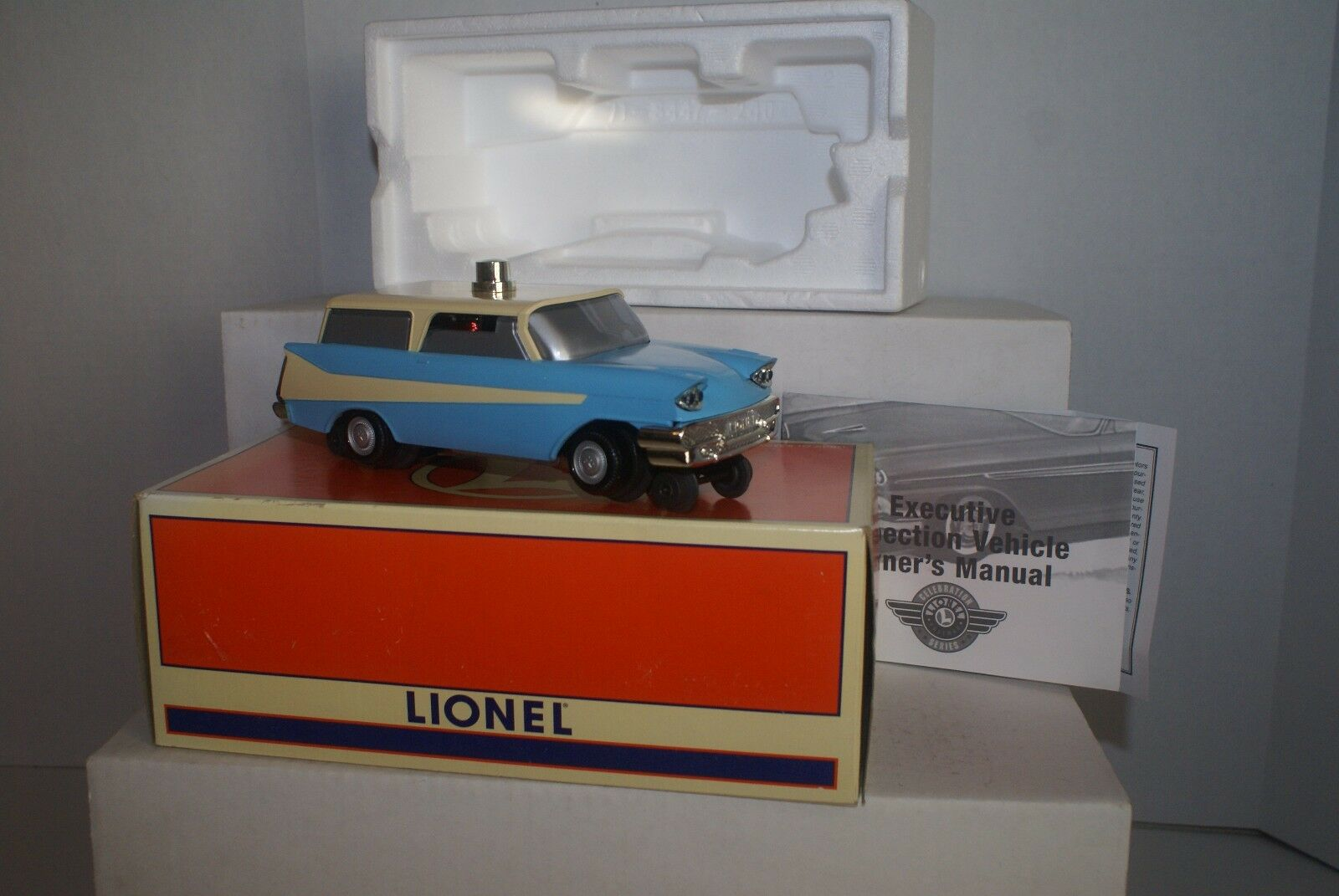 LIONEL 6-18454 blueE EXECUTIVE INSPECTION CAR