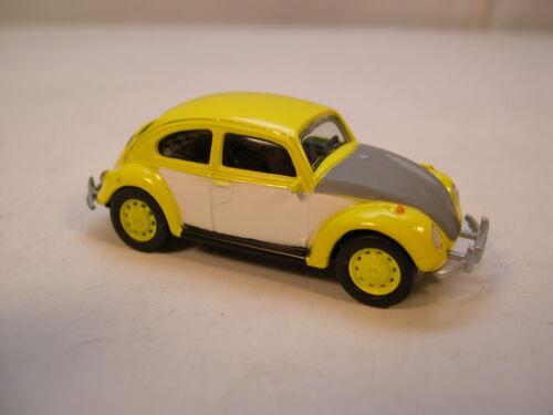 YELLOW UNRESTORED VW BEETLE GREENLIGHT 1:64 SCALE DIECAST METAL MODEL CAR