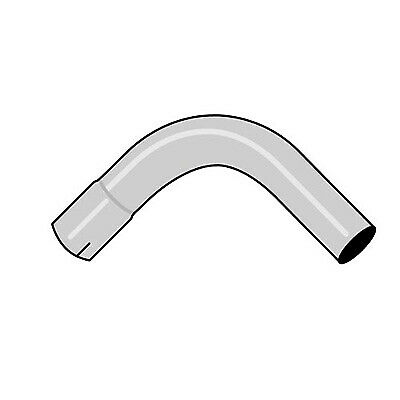 "Jetex Mandrel Exhaust Tubing Bends 2"" Size - 45 Degree Angle - Mild Steel"
