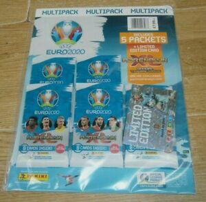 Panini Adrenalyn XL UEFA Euro 2020 Trading Cards Multipacks: 5 Packs + Ltd Ed