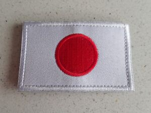 Japan-Flag-Embroidered-Patch-Military-Style-8x6cm-Badge-With-Hook-amp-Loop
