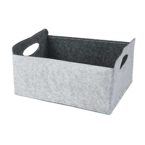 Fashion Felt Storage Basket Closet Toy Hamper Laundry Bag Shelf Boxes Organizer