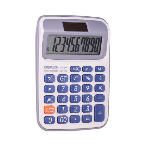 School Dual Power Solar//Battery Electronic 10 Digit Calculator Large Button B0L7