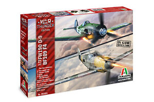 ITALERI-1-72-KIT-WAR-THUNDER-LIMITED-EDITION-AEREI-FW190-D-9-BF109-F-4-ART-35101