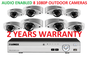 Details about LOREX Security Camera System 16 Channel 1080P 3TB HD DVR 8  Cameras AUDIO ENABLED