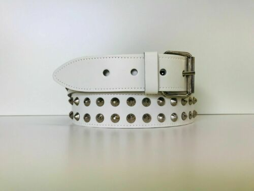 XL 3 Colours Sizes S M L CB2 Real Leather 2 Row Conical Studded Belt
