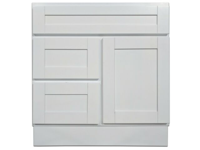 Kingway 30-inch Vanity Cabinet with Left Drawers Super ...
