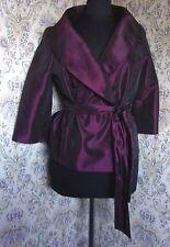 Plum purple sheen party top jacket style by ALEXON Size 14