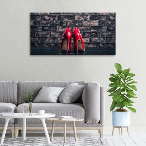 Glas-Bild Wandbilder Druck auf Glas 100x50 Deko Sinnlichkeit  Rote High Heels