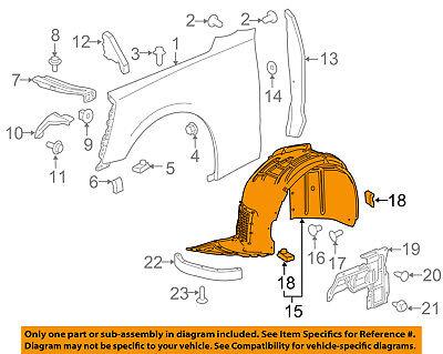 Chevrolet GM OEM 16-18 Camaro-Fender Liner Right 84169275