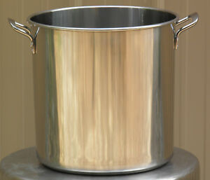 Stainless Steel Brew Kettle Stock Pot With Lid 20 Qt For