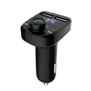 Drahtlose Bluetooth-Freisprecheinrichtung FM-Sender MP3-Player Dual-USB-Ladegerä
