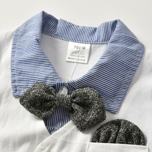 Newborn Baby Infant Gentleman Boy Romper Jumpsuit Bodysuit Outfits Clothes