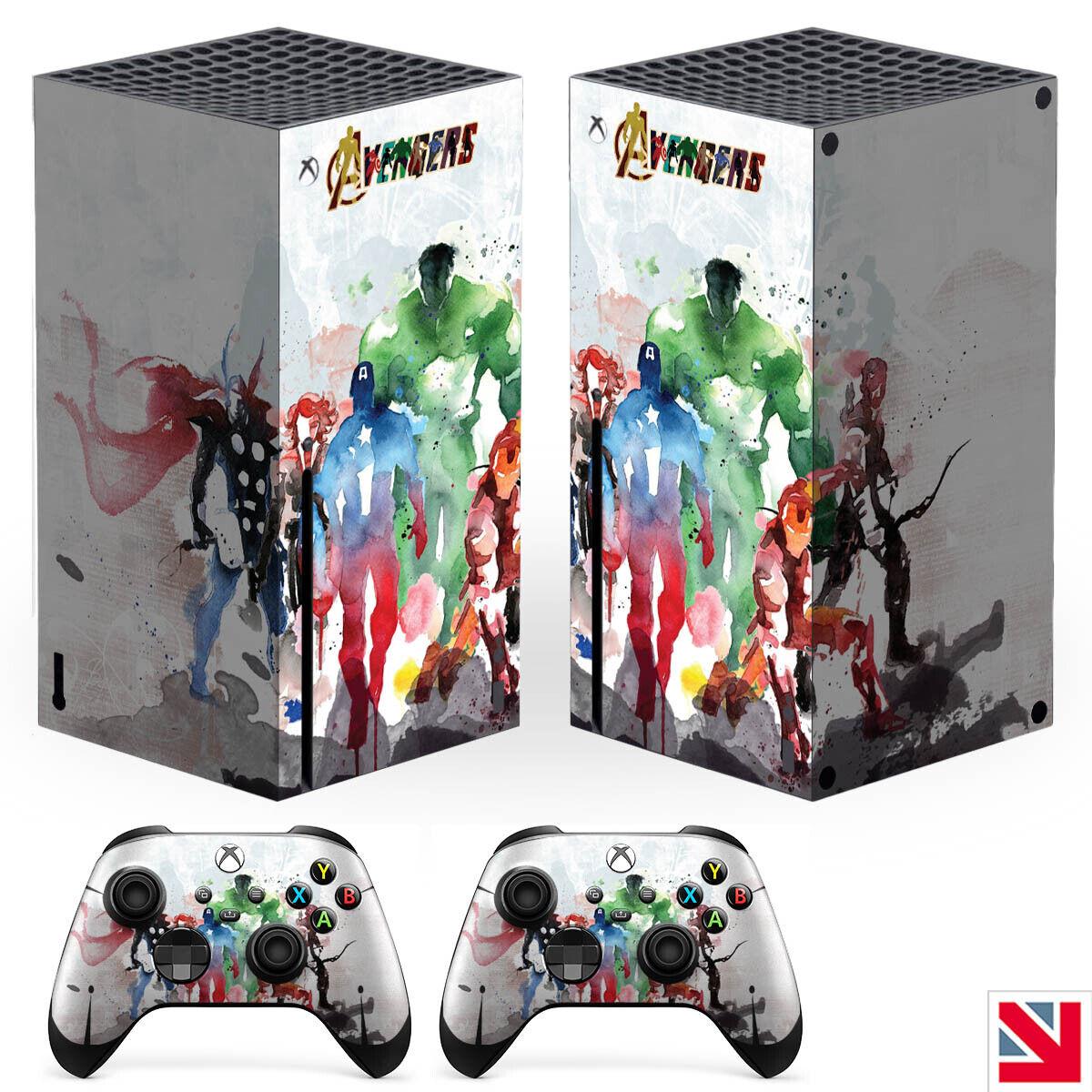 Avengers Comic Superhero XBOX SERIES X Skin Decal Vinyl Sticker Wrap