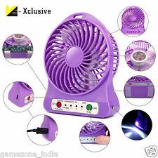 Powerfull Portable Mini USB Rechargable Fan 2200mAh Battery Assorted Colors