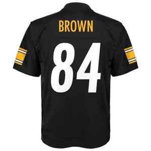 2018-2019) Steelers ANTONIO BROWN nfl ( 60) Jersey YOUTH KIDS BOYS ... 0b604c81f