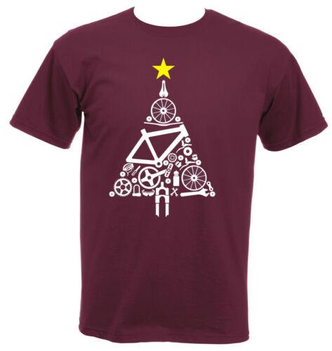 PHASE9 Cycling MTB Road Biking Bike Parts Xmas Tree Christmas Jumper T-Shirt