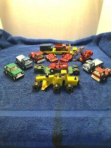 Vintage-Die-Cast-14-pieza-Lote-Tootsie-Toys-Matchbox-Lesney