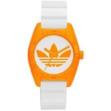 New ADIDAS ADH2851 Santiago Sport Watch Women's Orange on White