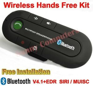 Portable Multipoint Bluetooth Wireless Sun Visor In-car Speakerphone Hands Free