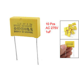 10 Stk AC 275V 1uF Polypropylen Folien Kondensatoren Sicherheit A8B8