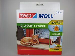 tesa-Moll-E-Profil-Classic-braun-Fensterdichtung-Tuerdichtung-1-3-5mm-9mm-25m