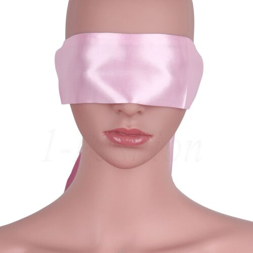 Soft Satin Eye Mask Role Play Sissy Couple Game Shade Blindfold Cover Ties Band