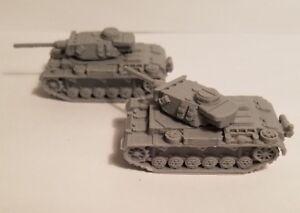 1-72-1-100-1-200-Panzer-III-37-50mm-long-x2-Scale-3d-Printed-WW-II-Model-Tank
