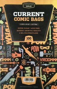 1000 CBG Current / Modern Comic Book Archival Poly Bags +Acid Free Backer Boards