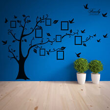 Large Photo Picture Frame Family Tree Removable Wall Sticker Decor Decal Black O
