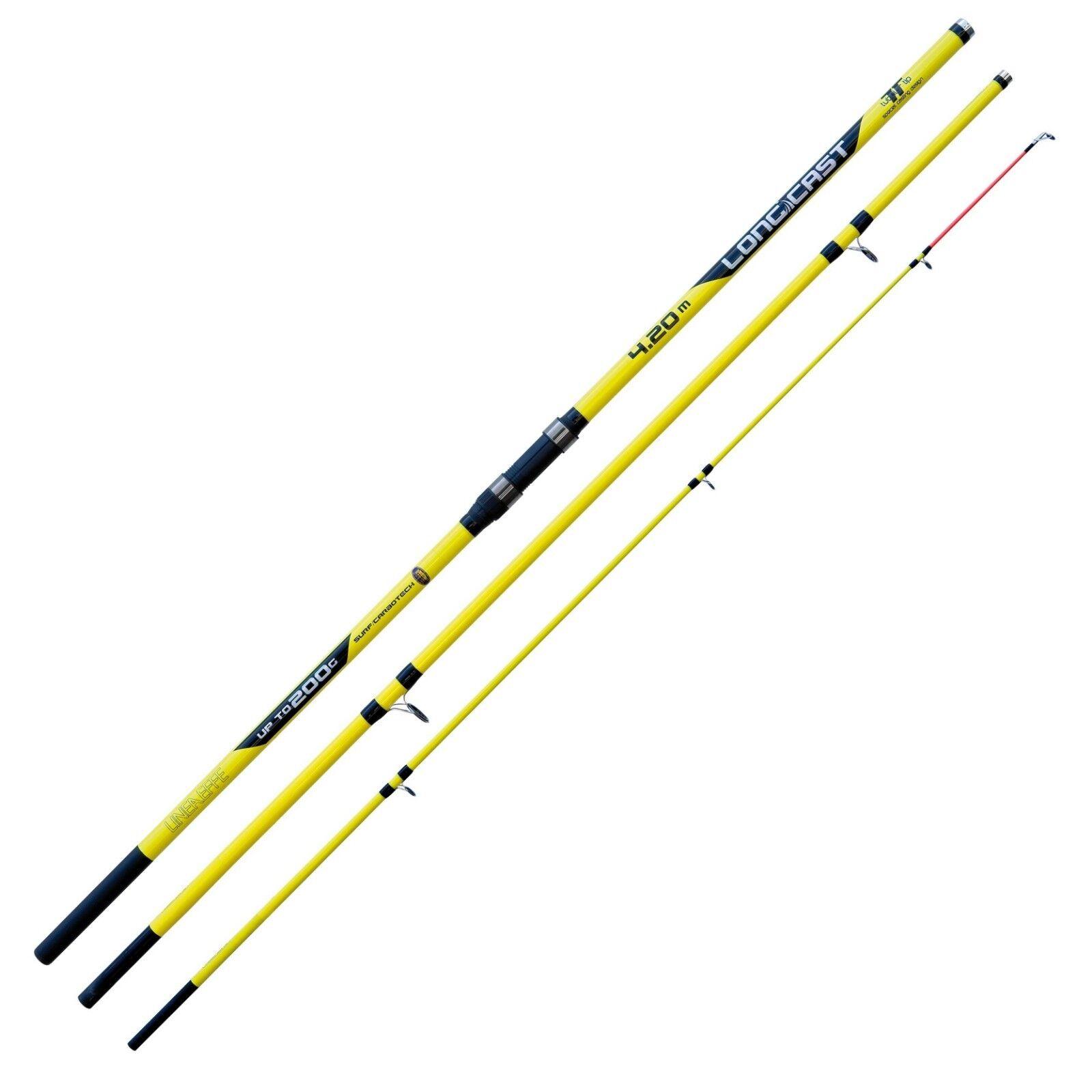 Lineaeffe Longcast 420 / 4.2m 3pc Beachcaster / Surf Fishing Rod - 2289242