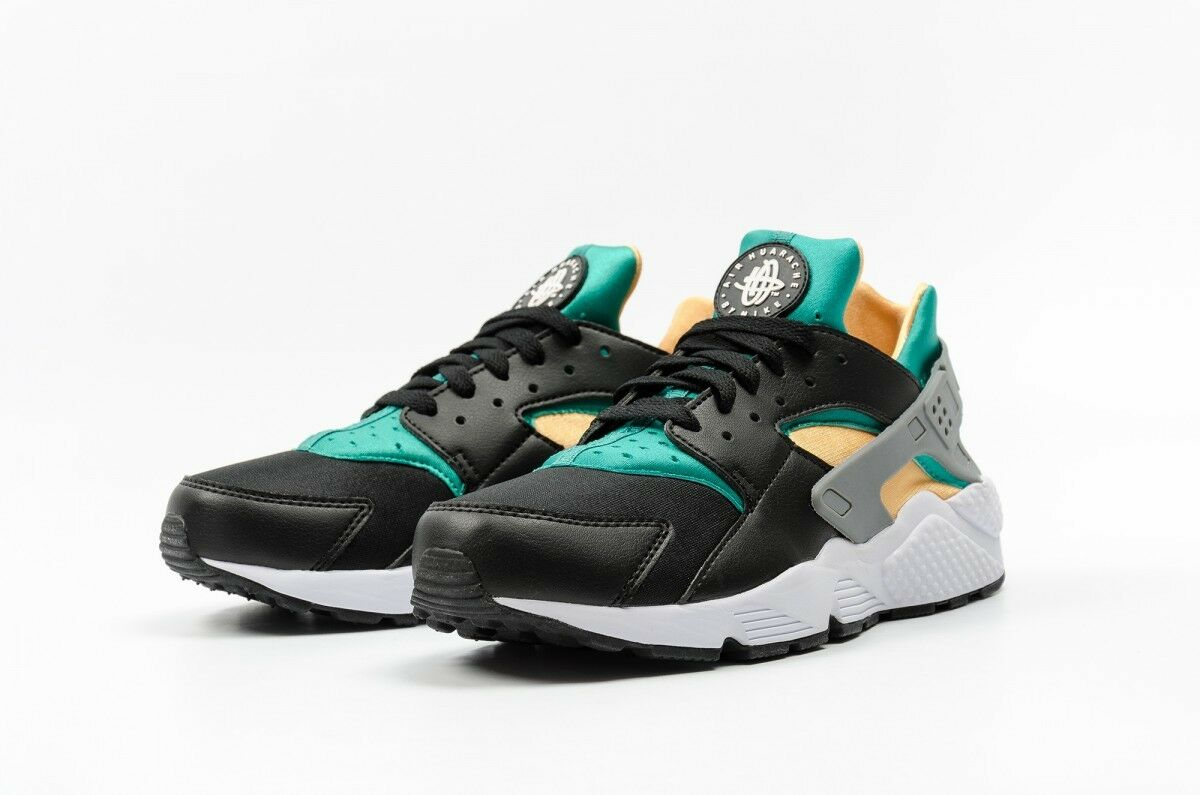 NEW Nike Air Huarache Mens Running shoes 318429 018 Black Emerald Resin ALL SIZES