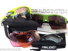 BLOC interchangeable TITAN sports Sunglasses Neon Green/ 4 Lens Box Set X633