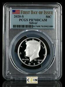 2020 S Silver Quarter Proof Set PCGS PR-70 .999 Silver First Day of Issue