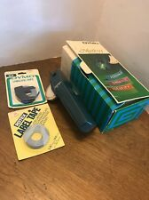 """Vintage Dymo Mark VI Labelmaker Extra Tape Box Instructions 3/8"""" And 1/4"""""""