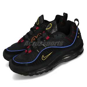 timeless design f894c 186c4 Details about Nike Air Max 98 Present Black Red Yellow Men Running Shoes  Sneakers CD1537-001