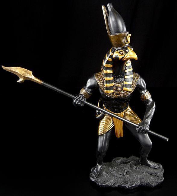 Horus Figur als Krieger - Ägypten Deko Gott ägyptisch Falke
