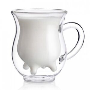 Cow-Udder-Nipples-Gift-Morning-Milk-Cup-Double-Wall-Glass-Insulated-Tea-Mug-8-oz
