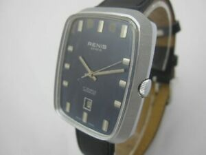 NOS-NEW-SWISS-DATE-SPECIAL-BIG-MEN-039-S-RENIS-WATCH-WITH-DATE1960-039-S