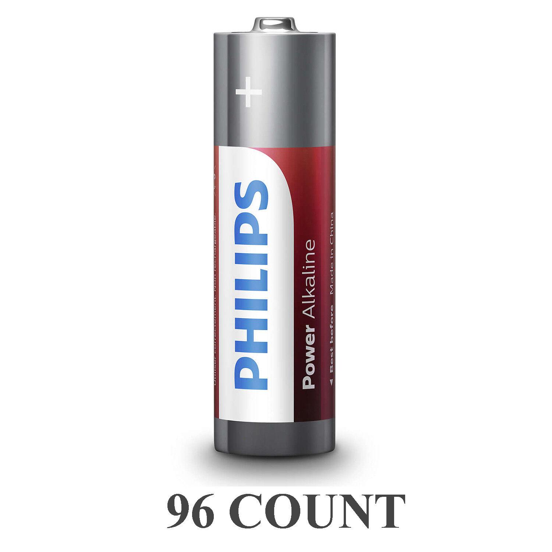 96 Philips AAA Batteries LR03 AM4 Micro 1.5V Power Alkaline