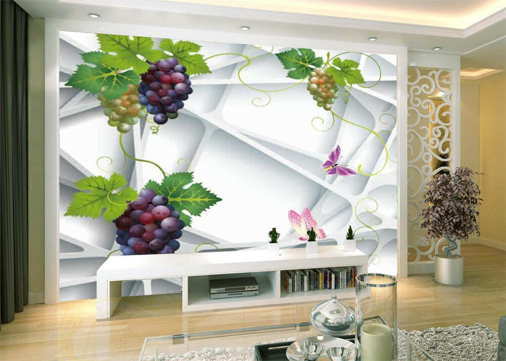 Delicious Grapes 3D Full Wall Mural Photo Wallpaper Printing Home Kids Decor
