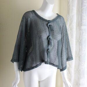 f18248fb1 Noelle GREEN XS S M L Funky Open-Knit Lagenlook Artsy Boxy Oversized ...