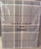 Laura Ashley Huntingdon Check SUPER KING Duvet Cover + 2 Pillowcases Steel Grey