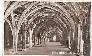 Yorkshire-Postcard-The-Cloisters-Fountains-Abbey-Ripon-ZZ3460