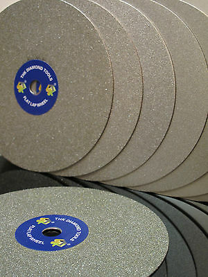 "6"" inch Grit 3000 Diamond coated Flat Lap wheel Jewelry grinding polishing disc"